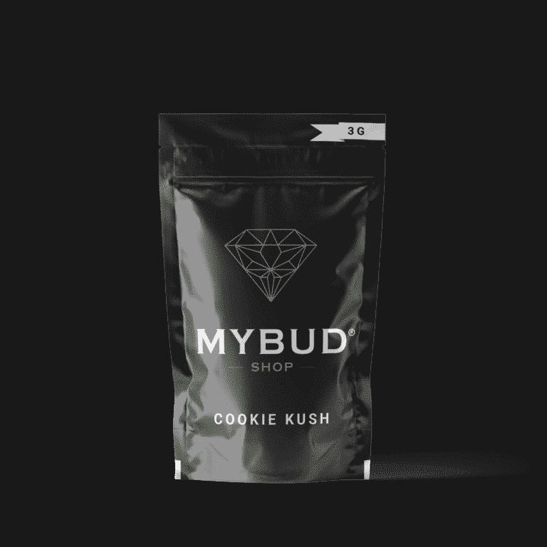 Pochette Mybud Shop fleurs de CBD très puissante Cookie Kush