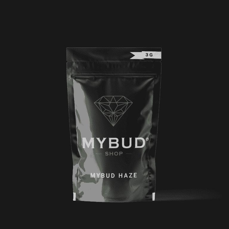 Pochette de fleur cbd de Mybud haze